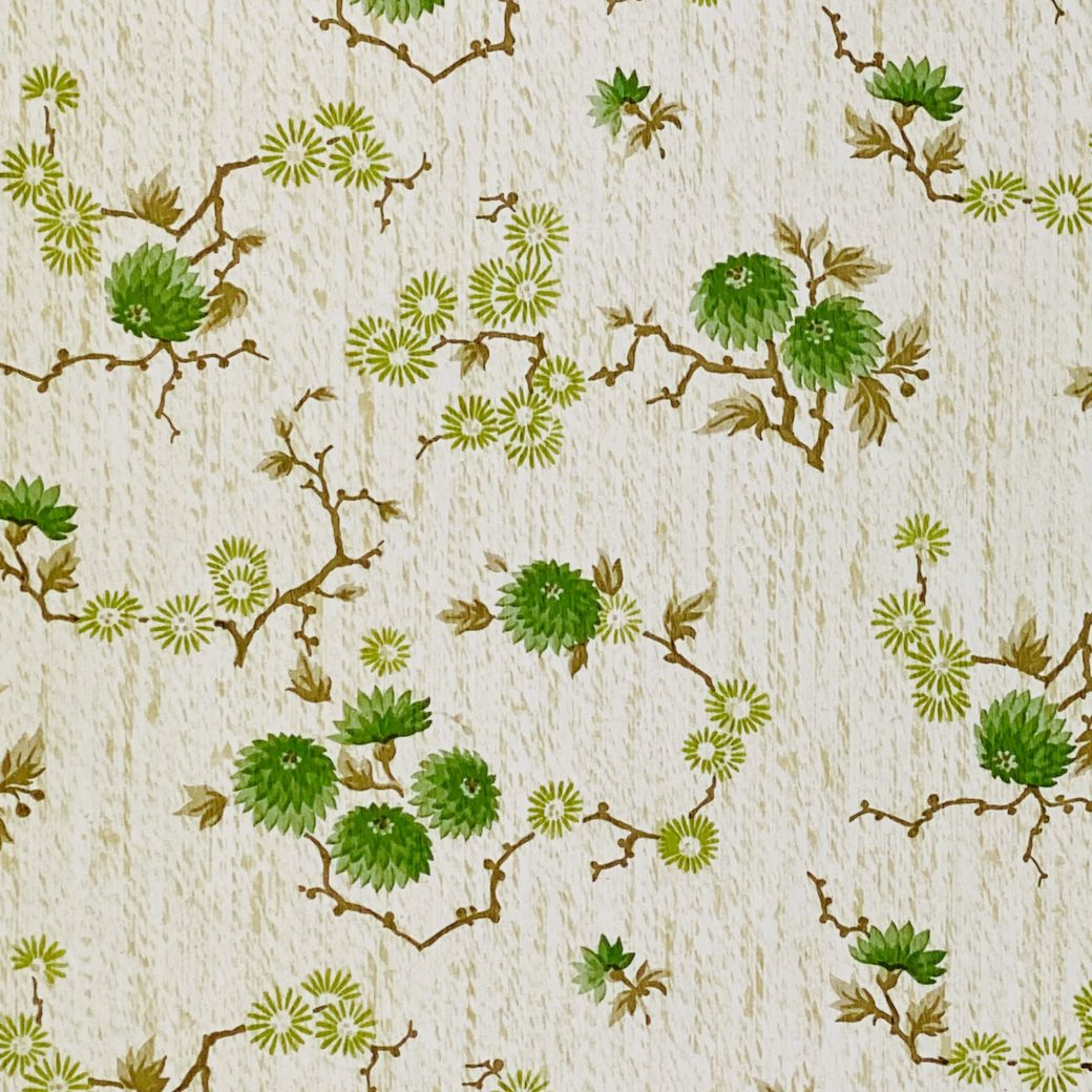 Vintage Floral Wallpaper Green Small Flowers 10