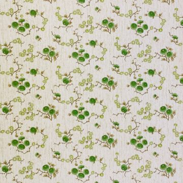 Vintage Floral Wallpaper Green Small Flowers 5