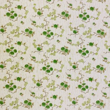 Vintage Floral Wallpaper Green Small Flowers 6