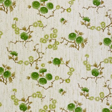 Vintage Floral Wallpaper Green Small Flowers 9