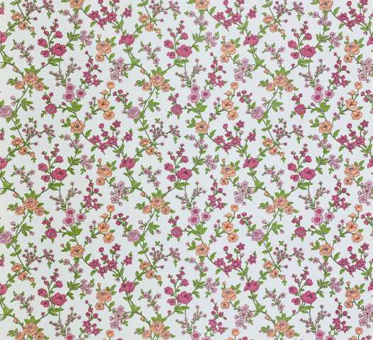 Vintage Floral Wallpaper Pink and Purple