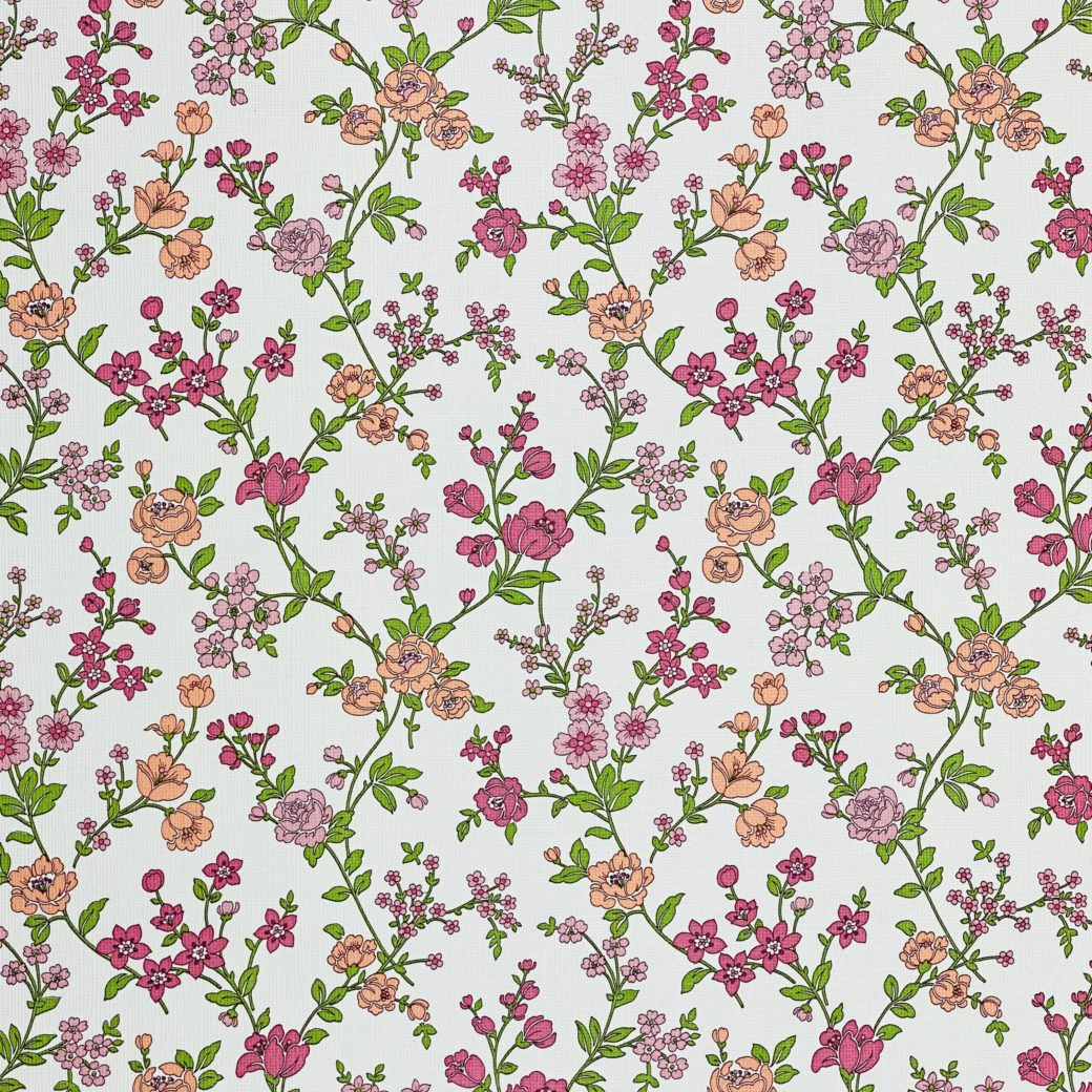 Vintage Floral Wallpaper Pink and Purple 3
