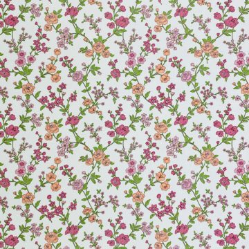 Vintage Floral Wallpaper Pink and Purple 2