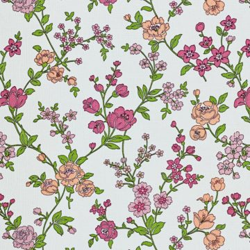 Vintage Floral Wallpaper Pink and Purple 5