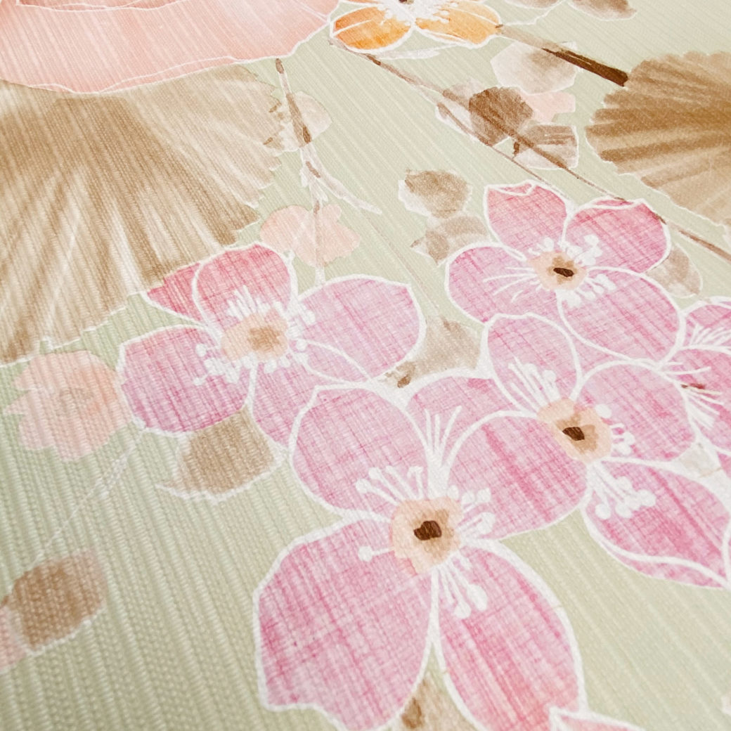 Vintage Floral Wallpaper Purple and Pink on Green 5