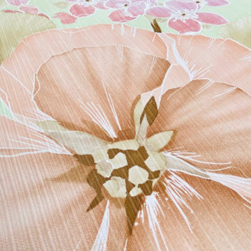 Vintage Floral Wallpaper Purple and Pink on Green 8