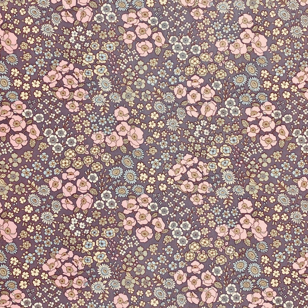 Vintage Floral Wallpaper Purple 1