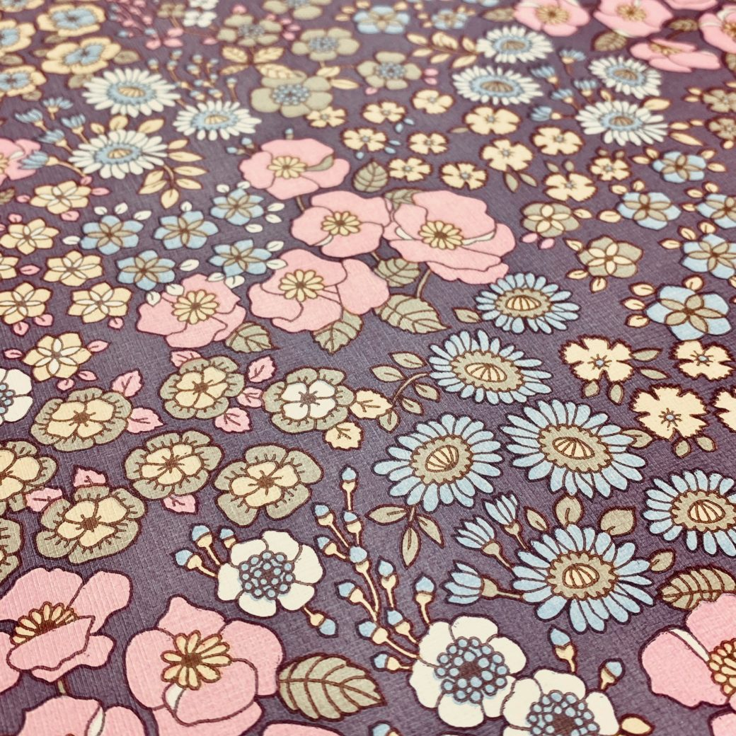 Vintage Floral Wallpaper Purple 5