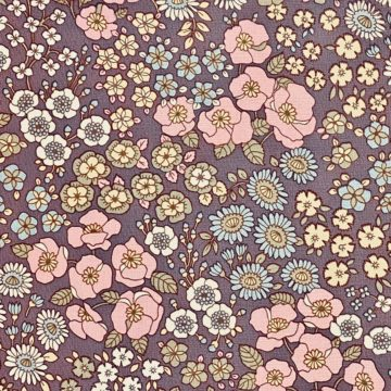 Vintage Floral Wallpaper Purple 4