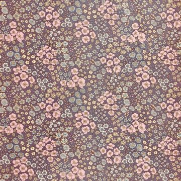 Vintage Floral Wallpaper Purple