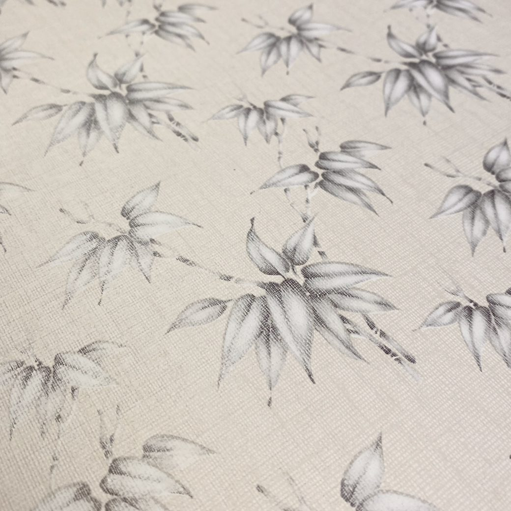 Vintage Floral Wallpaper Silver and Grey Flowers 8