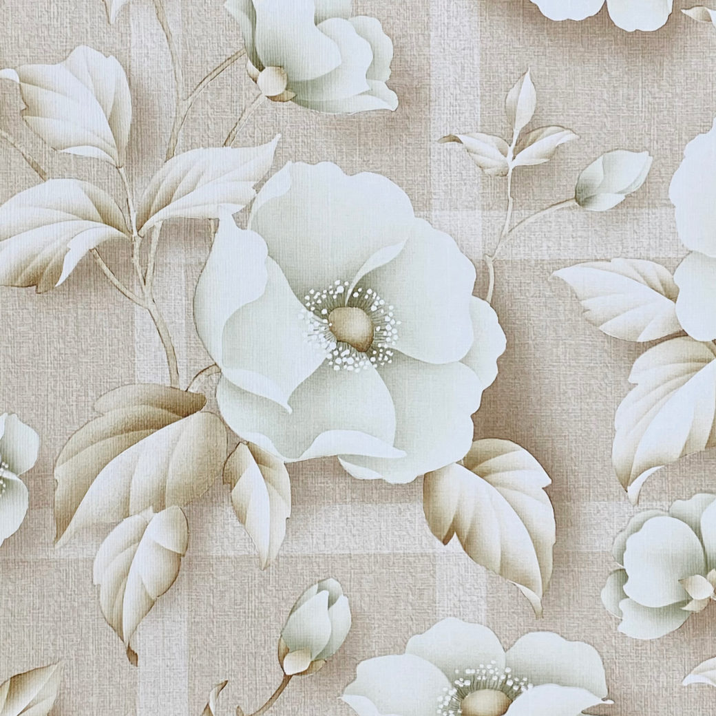 Vintage Floral Wallpaper with Green Flowers 4