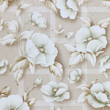 Vintage Floral Wallpaper with Green Flowers 2