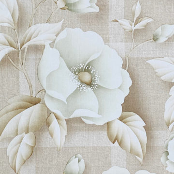 Vintage Floral Wallpaper with Green Flowers 5