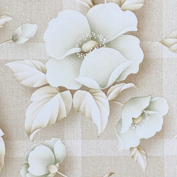 Vintage Floral Wallpaper with Green Flowers 6