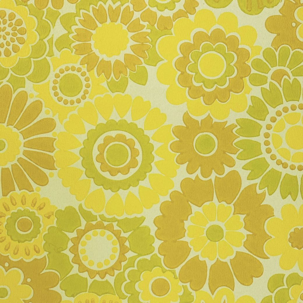 Vintage Floral Wallpaper Yellow Flowers 6
