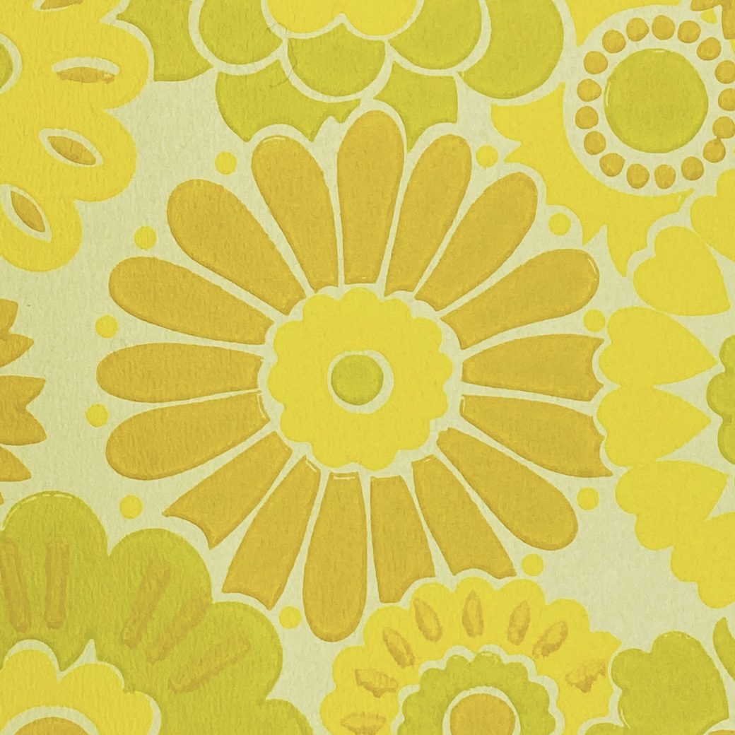 Vintage Floral Wallpaper Yellow Flowers 9