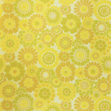 Vintage Floral Wallpaper Yellow Flowers 2