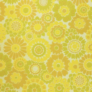 Vintage Floral Wallpaper Yellow Flowers 4