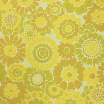 Vintage Floral Wallpaper Yellow Flowers 5