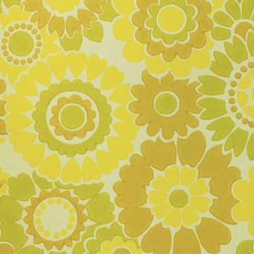 Vintage Floral Wallpaper Yellow Flowers 7