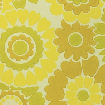Vintage Floral Wallpaper Yellow Flowers 8