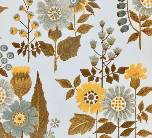 Vintage Flower Retro Wallpaper