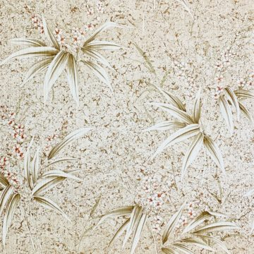 Vintage Flower Wallpaper Nature Brown 2