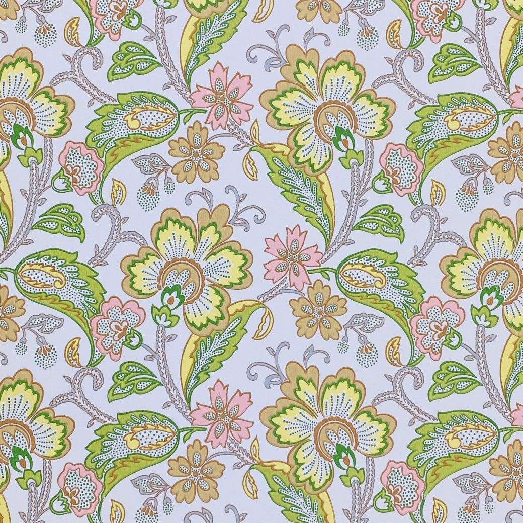 Vintage Flowers Wallpaper Yellow and Pink