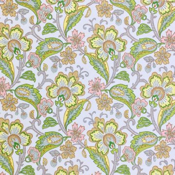 Vintage Flowers Wallpaper Yellow and Pink 1