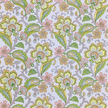 Vintage Flowers Wallpaper Yellow and Pink 2