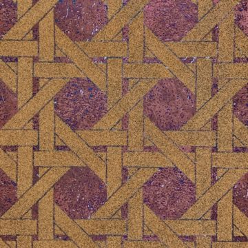 Vintage geometric cork wallpaper 2