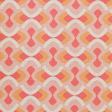 Vintage geometric pink wallpaper