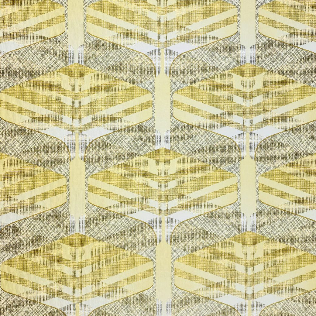 Vintage Geometric Wallpaper Yellow and Green 3