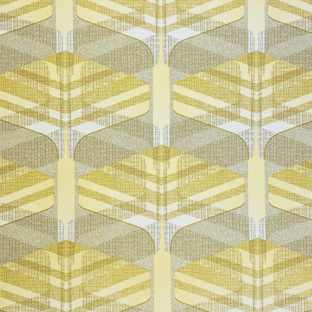 Vintage Geometric Wallpaper Yellow and Green 4