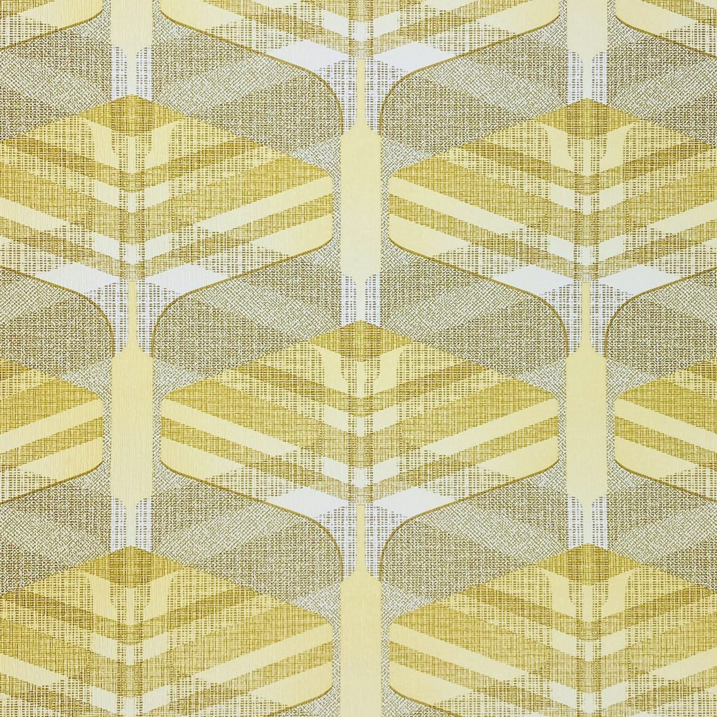 Vintage Geometric Wallpaper Yellow and Green 5