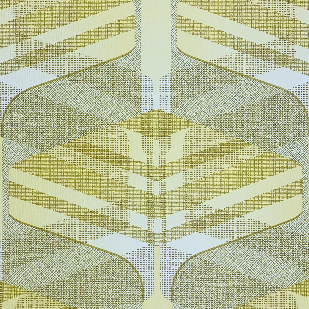 Vintage Geometric Wallpaper Yellow and Green 7