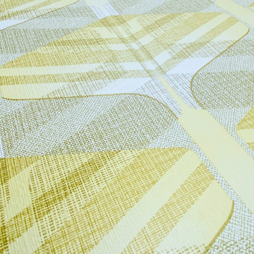 Vintage Geometric Wallpaper Yellow and Green 8