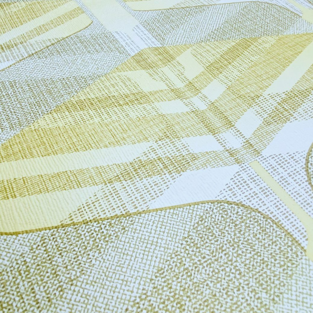 Vintage Geometric Wallpaper Yellow and Green 9