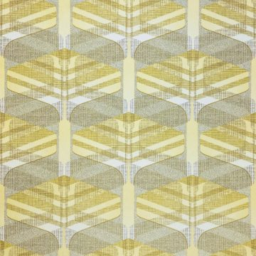 Vintage Geometric Wallpaper Yellow and Green 1