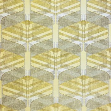 Vintage Geometric Wallpaper Yellow and Green 2