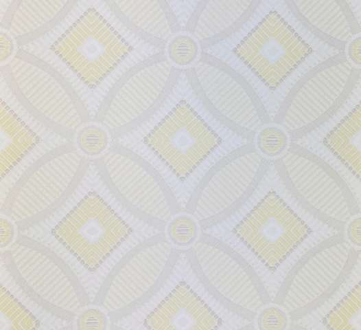 Vintage Geometric Wallpaper Yellow and White 5