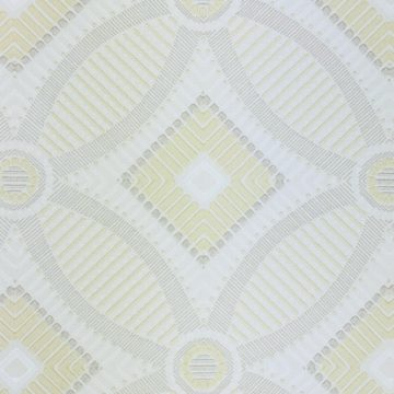 Vintage Geometric Wallpaper Yellow and White 2