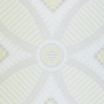 Vintage Geometric Wallpaper Yellow and White 4