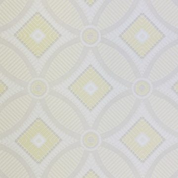 Vintage Geometric Wallpaper Yellow and White 6