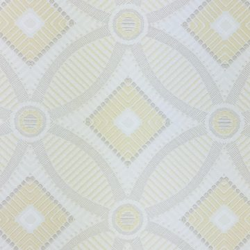 Vintage Geometric Wallpaper Yellow and White 8