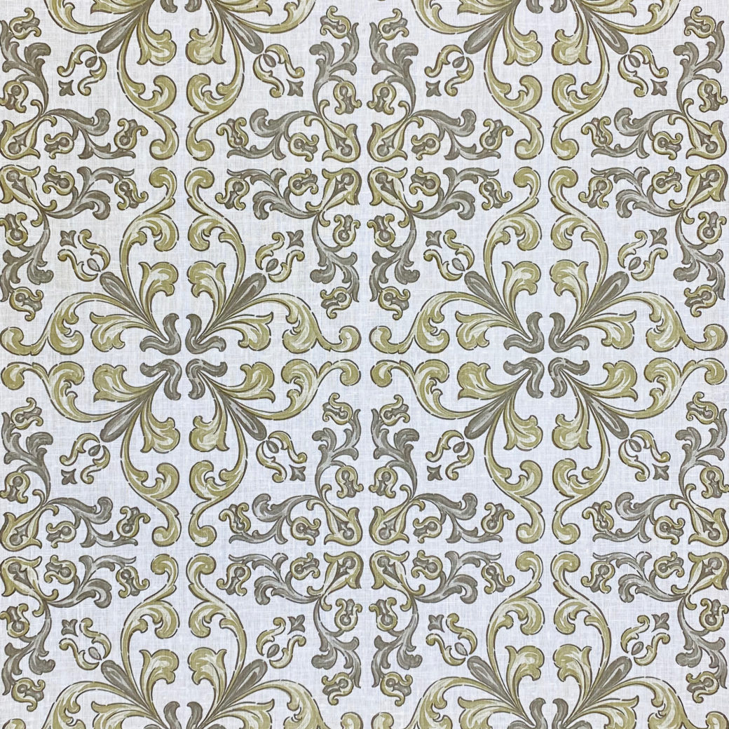 Vintage Gothic Wallpaper Grey and Green 1