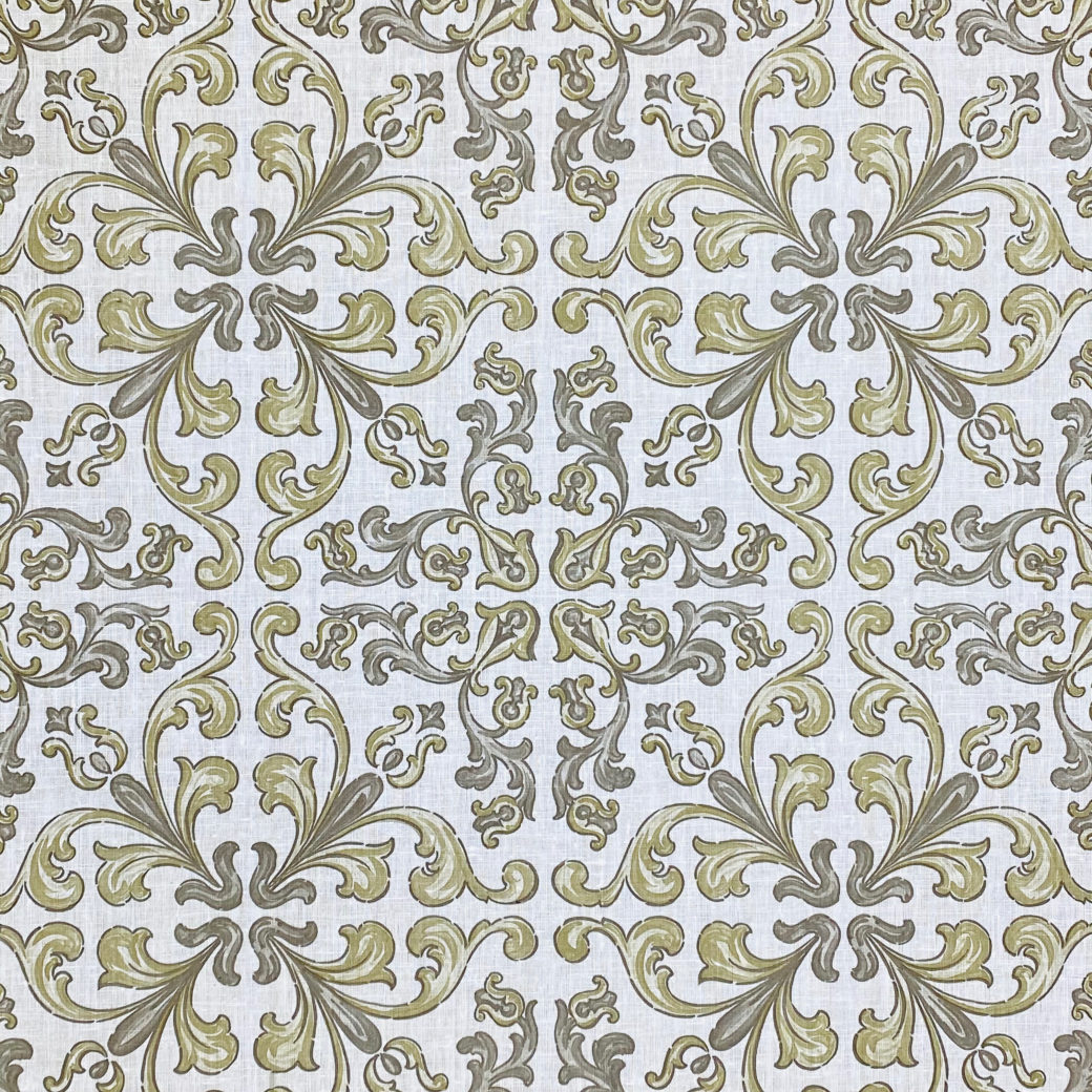 Vintage Gothic Wallpaper Grey and Green 3
