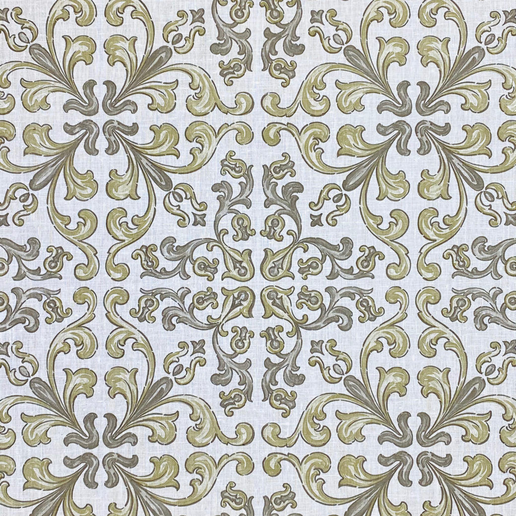 Vintage Gothic Wallpaper Grey and Green 4