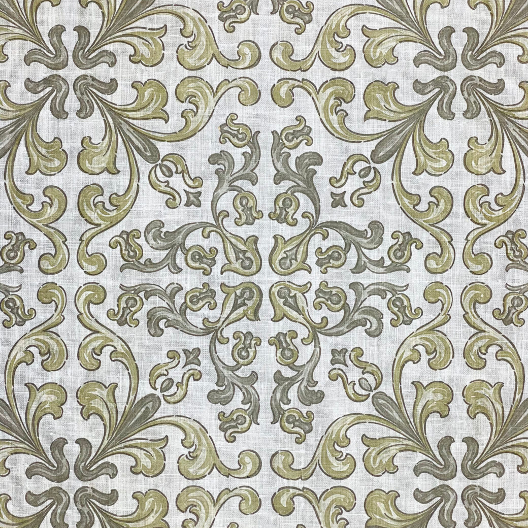 Vintage Gothic Wallpaper Grey and Green 5